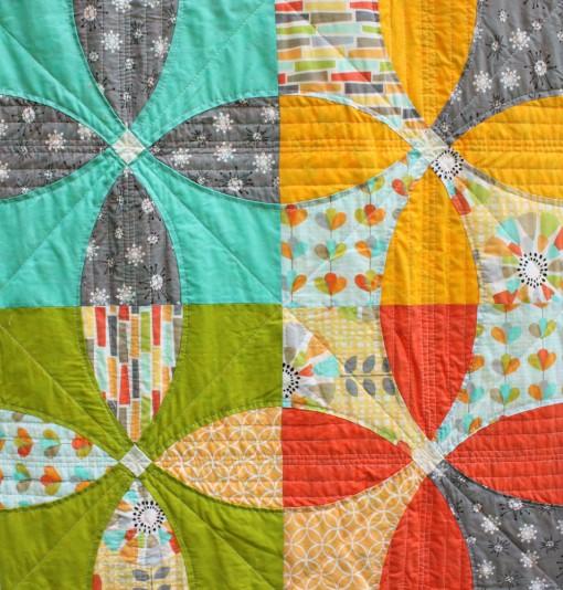 original Picnic Petals quilt ::: front detail