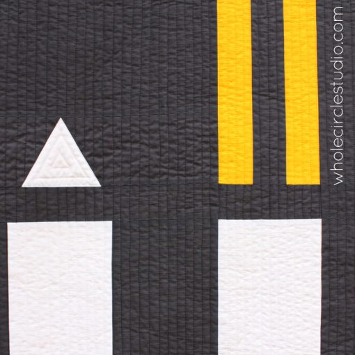 Road Work Quilt by Whole CIrcle Studio : Pattern available for 4 sizes. wholecirclestudio.com / detail shown