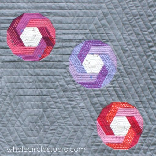 Detail of Shutter Snap Quilt. Design and pattern by Sheri Cifaldi-Morrill   www.wholecirclestudio.com   Fabric: Chroma by Alison Glass, Andover Fabrics
