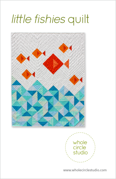 Little Fishies quilt pattern by Whole Circle Studio
