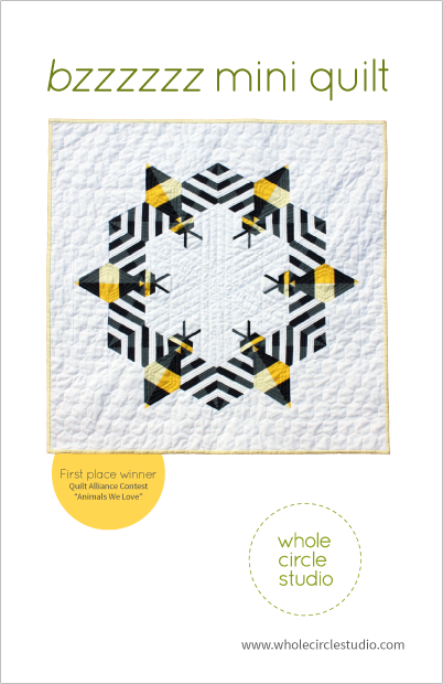 Bzzzzzz quilt pattern by Whole Circle Studio