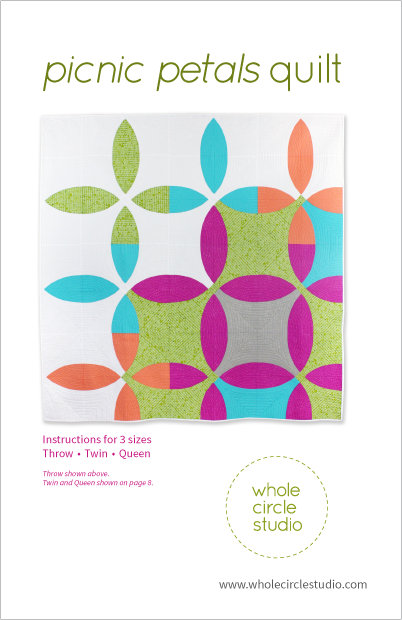 Picnic Petals quilt pattern by Whole Circle Studio