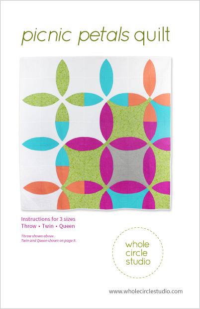 Picnic Petals quilt pattern by Whole Circle Studio