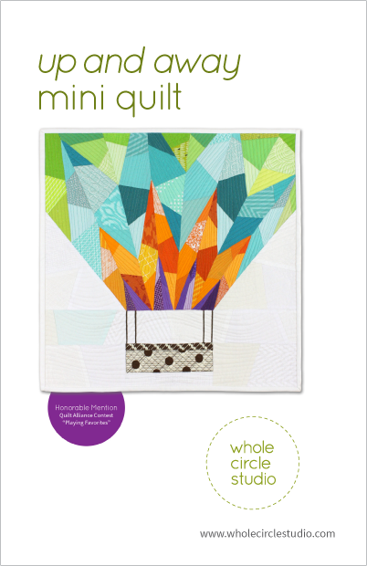Up and Away mini quilt pattern by Whole Circle Studio