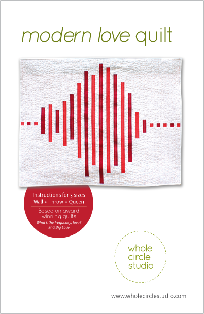 Modern Love quilt pattern by Whole Circle Studio
