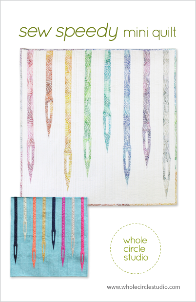 Sew Speedy mini quilt pattern by Whole Circle Studio