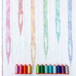 mini quilt | quilt | modern quilt | sewing | wall hanging | paper piecing | foundation paper piecing | needles | sewing machine | ombre stitches | QT Fabrics | Aurifil | | thread | whole circle studio | Sheri CIfaldi-Morrill | modern quilting