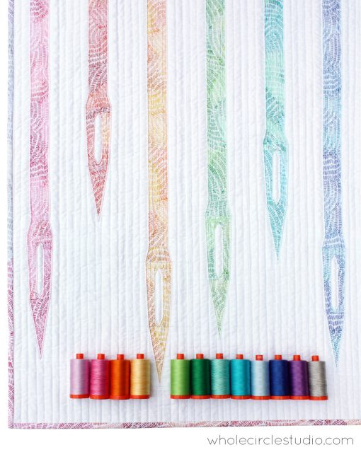 mini quilt   quilt   modern quilt   sewing   wall hanging   paper piecing   foundation paper piecing   needles   sewing machine   ombre stitches   QT Fabrics   whole circle studio   Sheri CIfaldi-Morrill   modern quilting