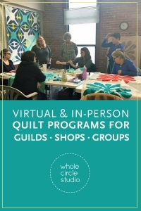 "Want to learn new quilting skills? Need inspiration? I've got a program for that! (and I love working with guilds, shops, and groups). Take a workshop or book a presentation with Sheri Cifaldi-Morrill. Programs include ""Approaching Quilting as a Graphic Designer"", Aurifilosophy: a thread education program from the thread makers of Aurifil, Learning how to Piece Curves, Hawaiian Inspired Applique, English Paper Piecing, and Walking Foot Quilting."