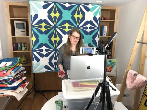 Live online Zoom quilt presentations, trunk shows, classes, and workshops by Sheri Cifaldi-Morrill of Whole Circle Studio. Available for guilds, shops, and conferences.